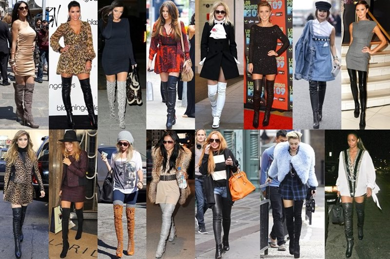 Thigh High Boots Celebrity Fashion Style