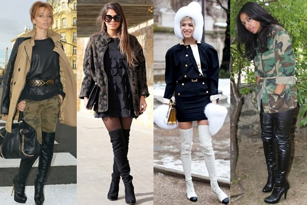 Thigh High Boots Military-inspired Fashion Looks