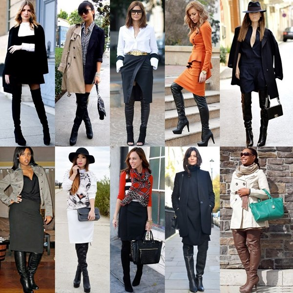 Styles and Fashion Thigh High Boots Office Attire