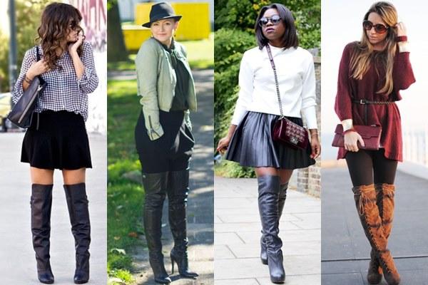Thigh High Boots Street Fashion Fall Winter 2013