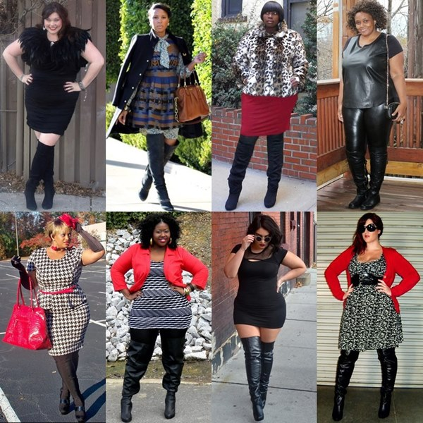 Thigh High Boots Fashion for Plus Size Women