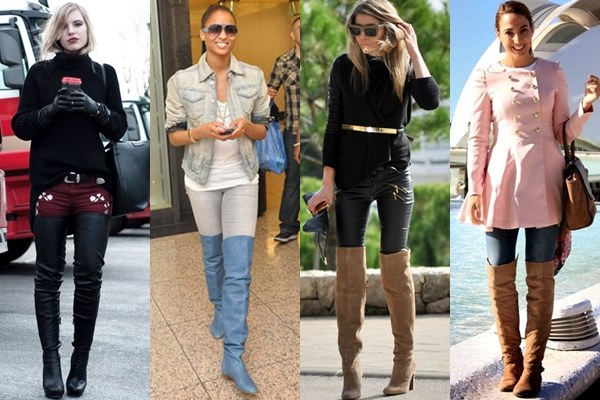 Thigh High Boots with Skinny Jeans and Pants