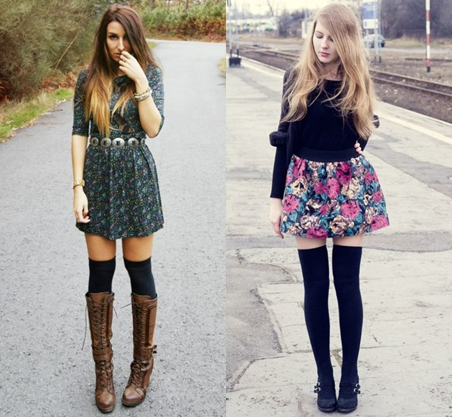 Knee High Socks Fashion Street Styles