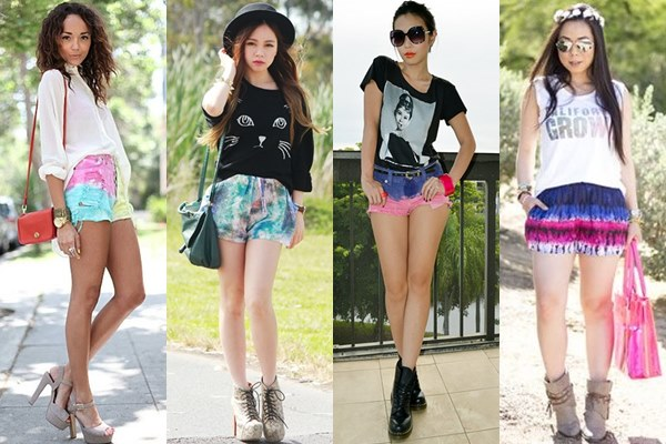 Colorful Tie-dyed Shorts