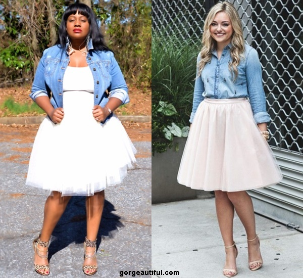 Dress Down Your Tutu Skirt with Denim for Casual Look
