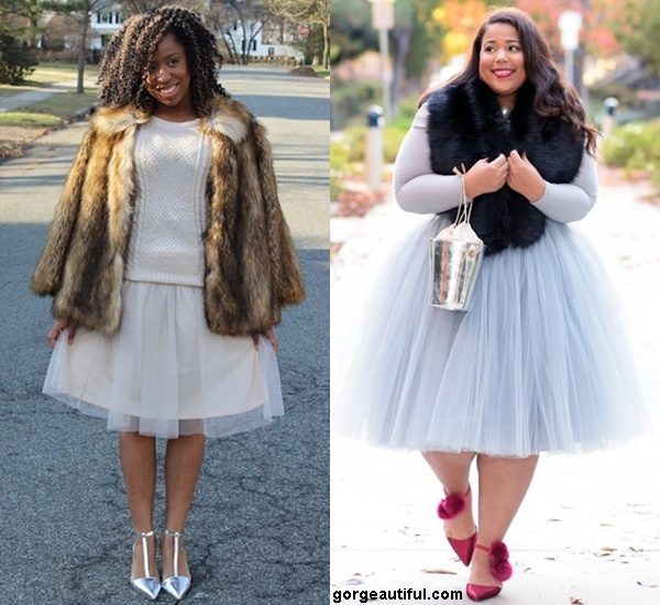 Add More Glam into Your Tulle with a Faux-fur Jacket or Stole