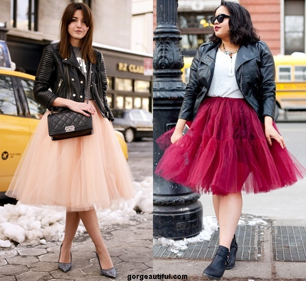Throw A Leather Jacket with Your Tulle for A Slightly More Badass Take On The Look