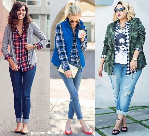 Add more Layer or Outerwear Over Your Plaid Shirt