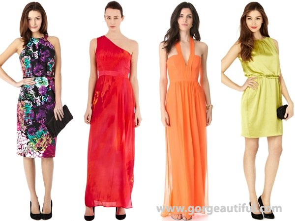 Solid tone or prints Wedding Guest Dresses for spring and summer