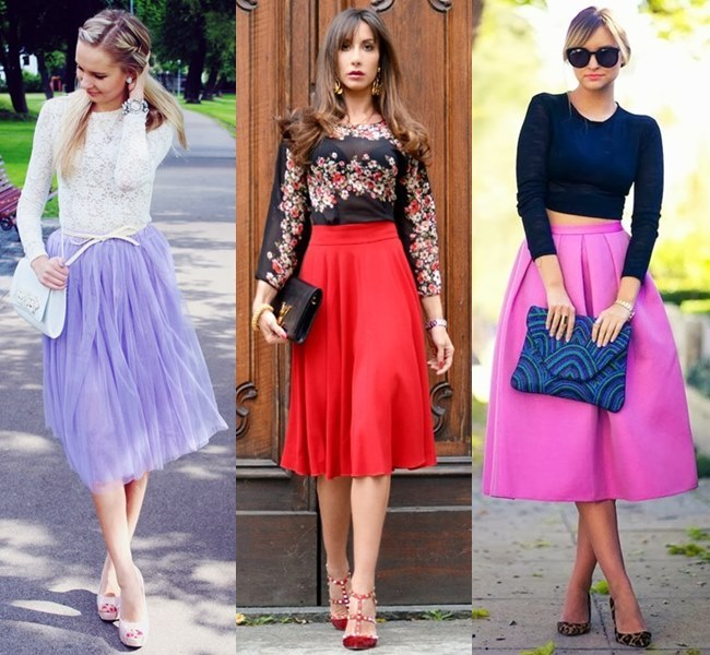 Feminine Wedding Outfit Ideas with Midi Skirt