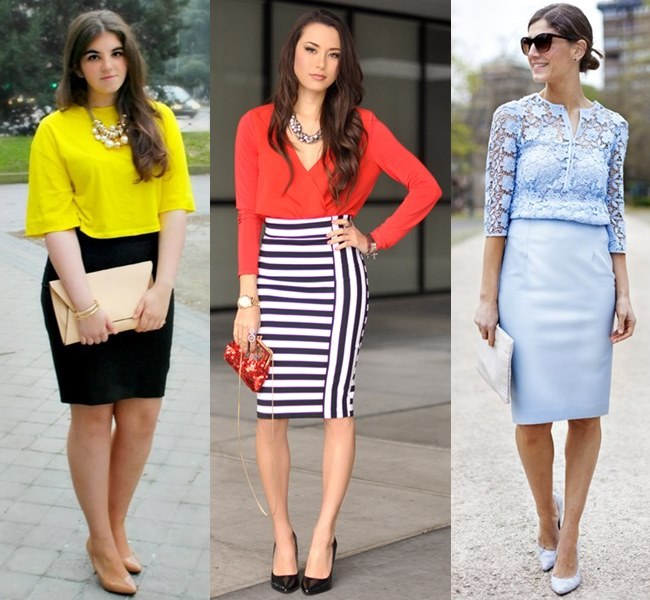 Classic Wedding Outfit Ideas with Pencil Skirt