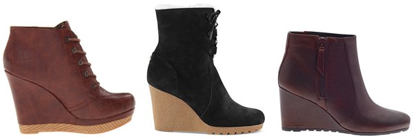 Wedge Boots for Apple Body Shape