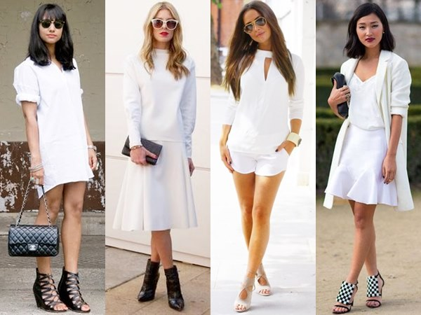 White on White Fashion Looks for Daytime and Cocktail