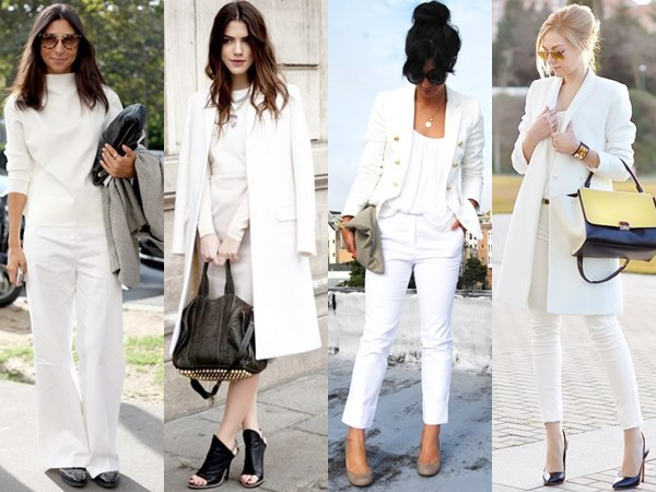 White on White Formal Office Fashion Looks