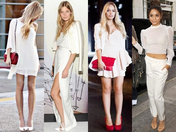 White on White Fashion Looks for Night Out and Cocktail