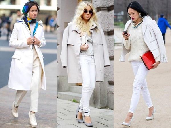 White on White Office Dress Fashion Look