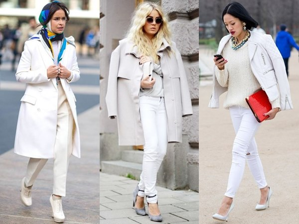 Fall Winter All White Fashion Looks