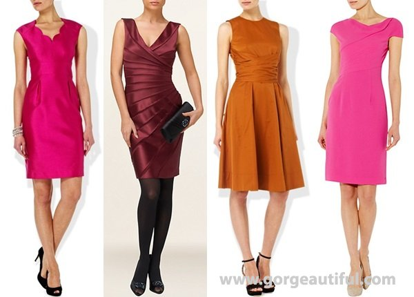 chic dresses in bright hues like pink