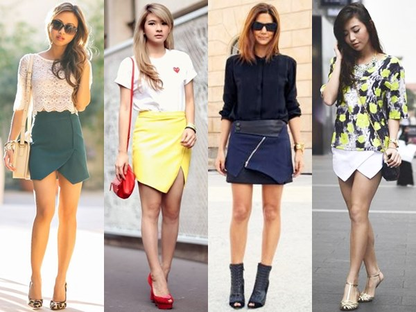 Wrap Mini Skirts are also great for petite figure