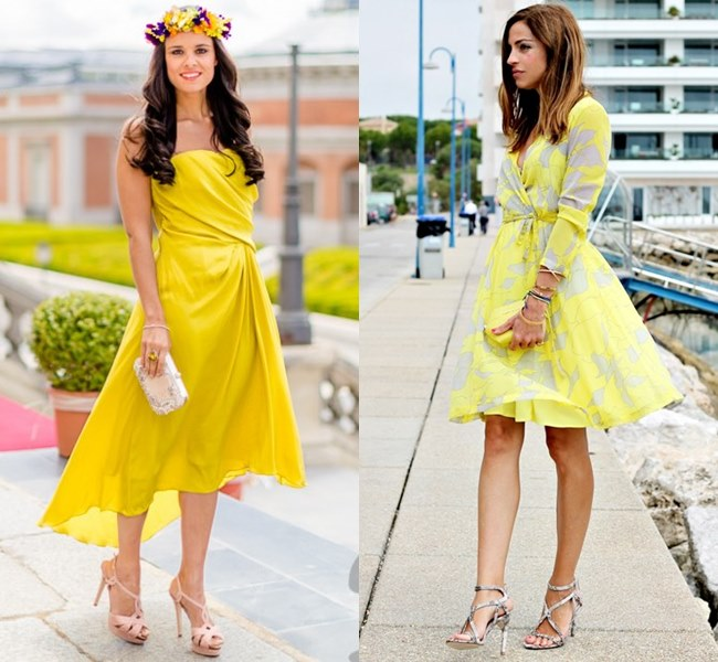 Wedding Dress Ideas in Bright Refreshing Yellow