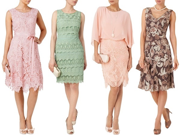 Phase Eight : Rose Lace Fit and Flare Dress