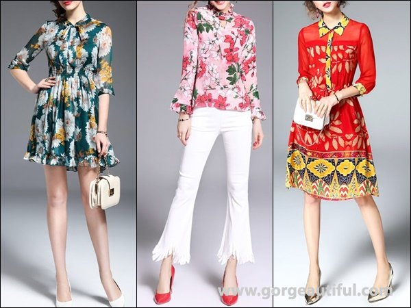 Floral print Casual Blouse