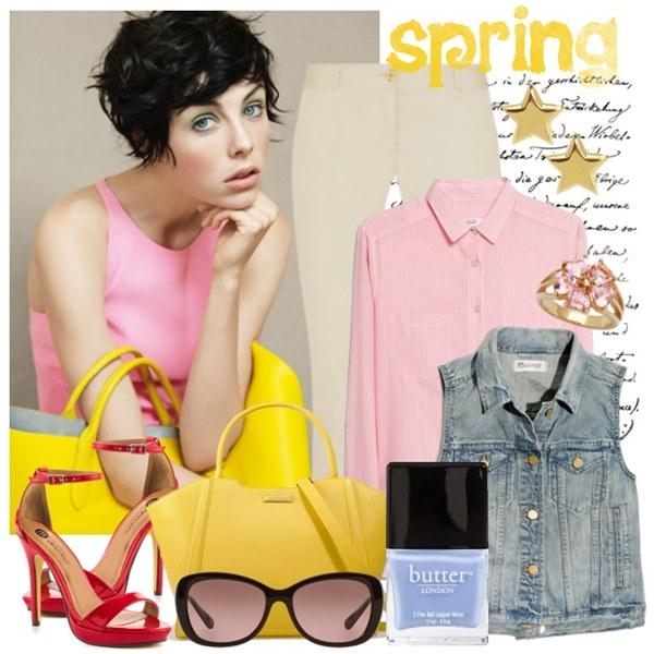 Chic Pink and Denim Spring Fashion