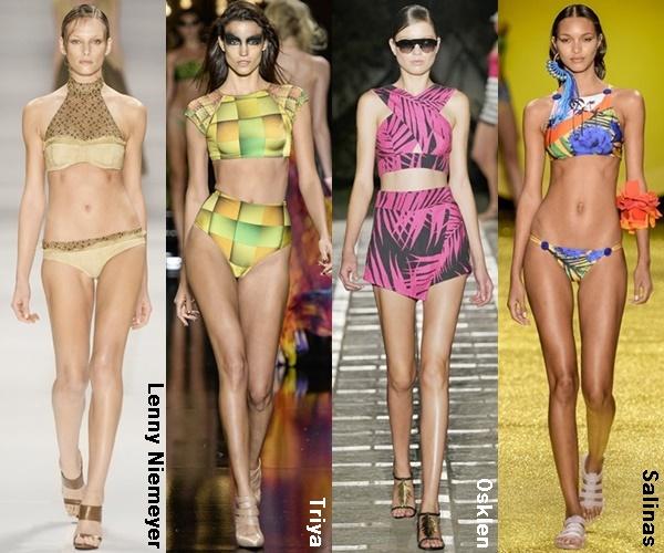 Crop Top Swimwear Spring Summer 2015 Trend