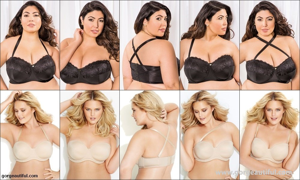Different Strap Styles Plus Size Convertible Bras