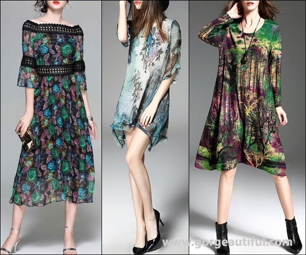 Viva Vena Multicolor Floral print A-line Off Shoulder Casual Midi Dress