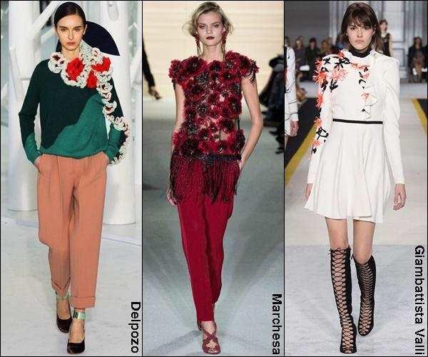 Fall Winter 2015 Fashion Trend 3D Embelishments