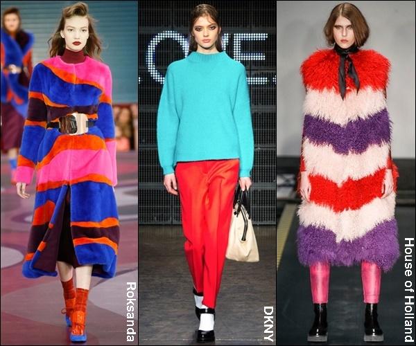 Fall Winter 2015 Fashion Trend Bold Colors