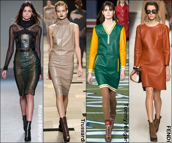 Fall Winter 2015 Fashion Trend Leather