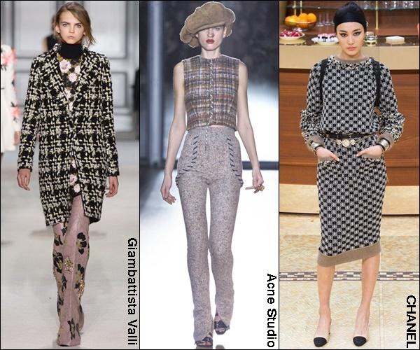 Fall Winter 2015 Fashion Trend Tweed