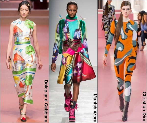 Fall Winter 2015 Fashion Trend Vibrant Prints