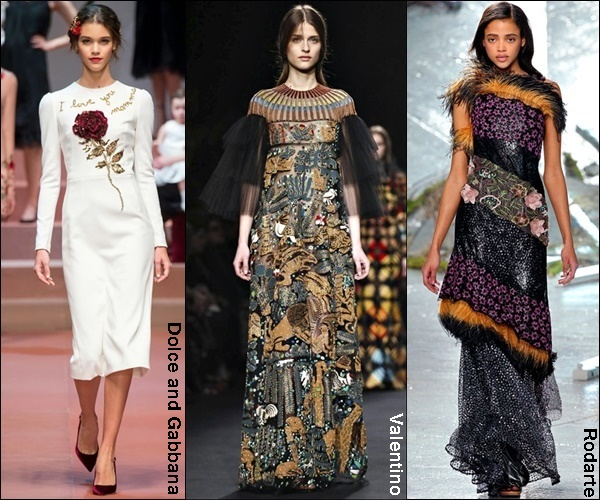 Fall Winter 2016 Fashion Trend 3D Embelishments