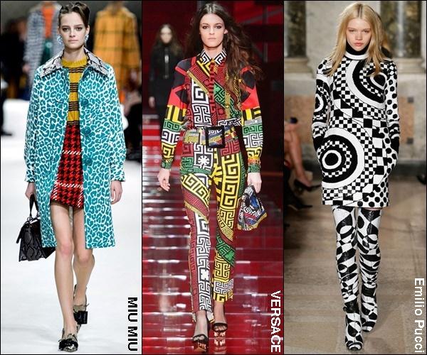 Fall Winter 2016 Fashion Trend Vibrant Prints