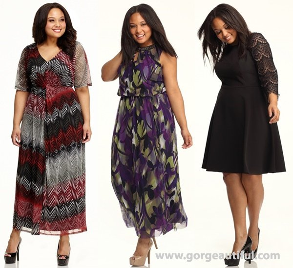 Fall Winter Plus Size Wedding Guest Dresses