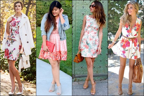 Floral Print Dresses for Valentine Day