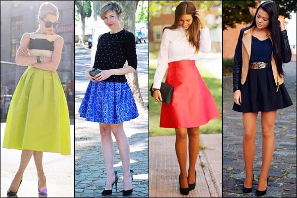 Full Skirt Street Style for Valentine Day