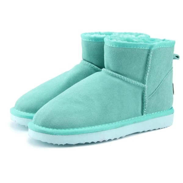 Green Lake Genuine Cowhide Leather Ankle Boots