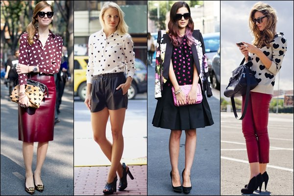 Heart Print Outfit Fashion Ideas