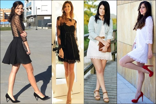 Lace Dress Street Fashion Style