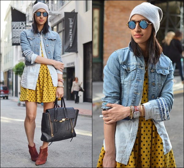 Layering Idea with Denim Shirt and Denim Jacket