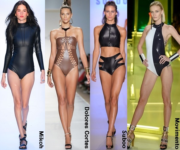 Leather Swimwear 2015 Trend