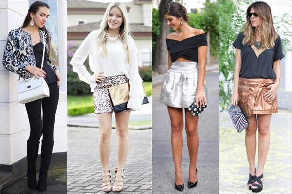 Metallic Look Street Fashion