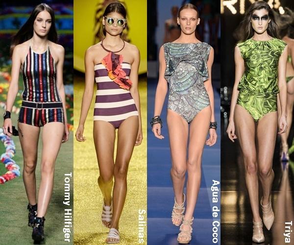 Minimalistic One Piece Swimsuit 2015 Trend