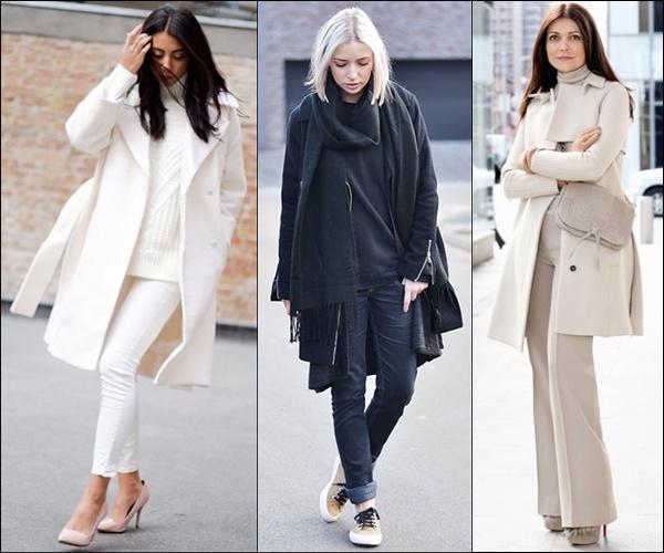 Monochromatic Winter Layering Fashion Style