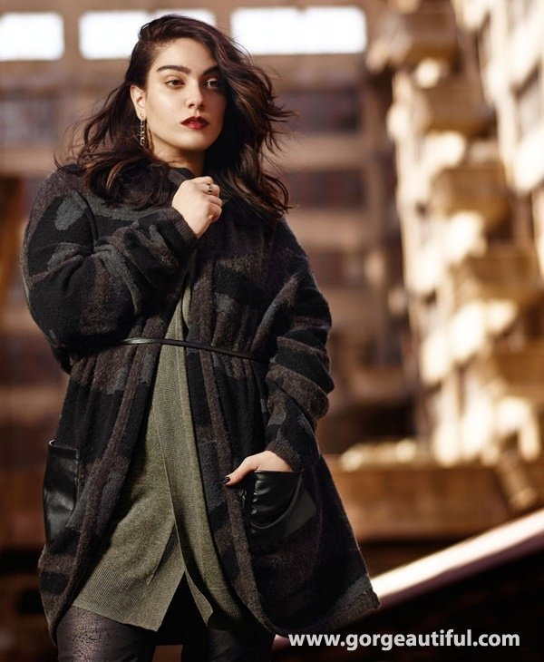 Nadia Aboulhosn x Addition Elle Fall Winter 2015 Plus Size Fashion 06