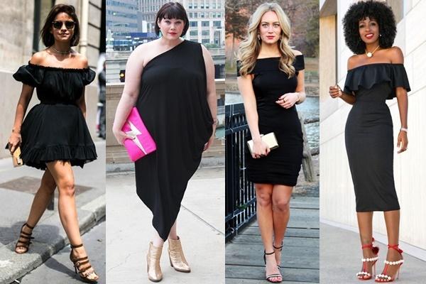 off-shoulder-little-black-dress-outfit-ideas